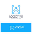 abstract design online blue outline logo place vector image vector image