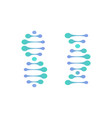 abstract dna molecule logo turquoise vector image vector image