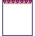 american decorative patriotic card frame vector image vector image