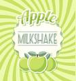 apple milkshake vector image vector image
