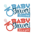 bashower pacifiers emblems vector image vector image