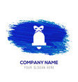 bell icon - blue watercolor background vector image vector image