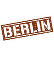 berlin brown square stamp vector image