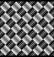black and white abstract seamless ring pattern vector image vector image