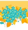 Blue and yellow flower background vector image vector image