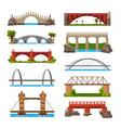 bridges cartoon icon set vector image
