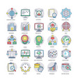 business flat icons set vector image vector image