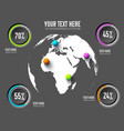 business web infographic concept vector image vector image
