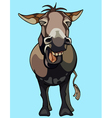 cartoon donkey neighing vector image vector image