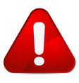 cartoon like rounded warning attention sign with vector image