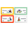 children spend time in farm zoo at countryside or vector image