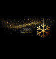 christmas background with gold snowflake vector image vector image