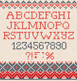 christmas font scandinavian seamless knitted vector image vector image