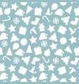 christmas seamless pattern - xmas vector image vector image