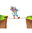 Clown with balloons on the rope vector image