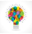 colorful light bulbs form a big bulb vector image vector image