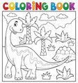 coloring book dinosaur topic 6 vector image vector image