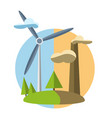 concept with icon of green energy vector image