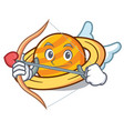 cupid planet saturnus character cartoon vector image