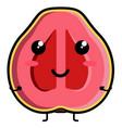 cute guava emoticon vector image