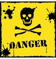 danger icon yellow and black vector image