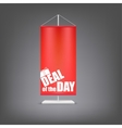 deal day vertical red flag at pillar vector image vector image