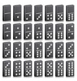 domino full set realistic 3d vector image vector image