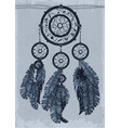 dream catcher in shades of gray monochrome vector image vector image