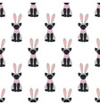easter cat seamless pattern vector image vector image