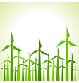 Eco windmills background vector image