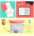 Educational set of tools vector image