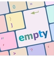 empty button on computer pc keyboard key vector image vector image
