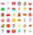 fun holiday icons set cartoon style vector image vector image