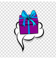 gift box birthday picture pop art vector image