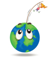 girl playing on earth vector image vector image