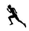 girl sprinter runner running vector image vector image
