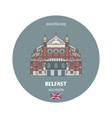 grand opera house in belfast uk vector image vector image