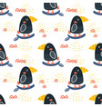 graphic toucan pattern vector image vector image