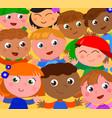 happy children with hands up vector image vector image