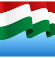 hungarian flag wavy abstract background vector image vector image