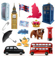 london england icons set vector image vector image