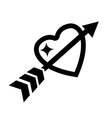 love heart with arrow icon vector image