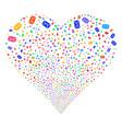 mail envelope fireworks heart vector image vector image