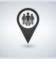 map pin icon with group people vector image vector image