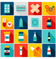 medicine pharmacy colorful icons vector image vector image