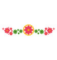 mexican decorative flowers and leafs wreath vector image