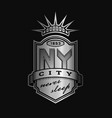 new york city emblem vintage style on a dark vector image vector image
