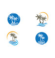 palm tree logo template vector image vector image