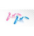 pink october and blue november isolated symbols vector image