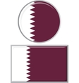 Qatari round and square icon flag vector image